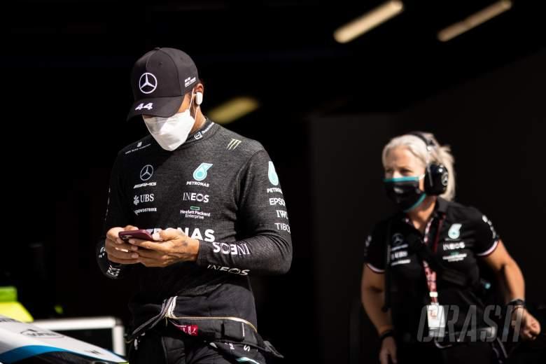 Lewis Hamilton (GBR) Mercedes AMG F1.