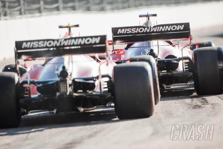 Charles Leclerc (MON) Ferrari SF-21 and Carlos Sainz Jr (ESP) Ferrari SF-21.