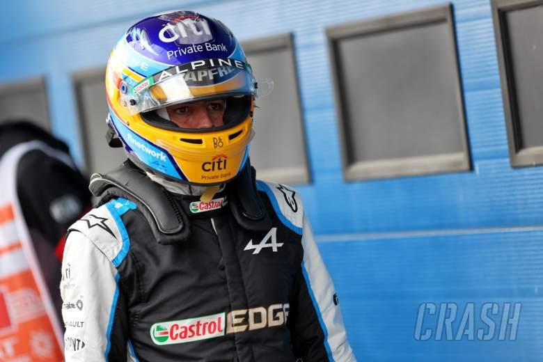 Fernando Alonso (ESP) Alpine F1 Team in qualifying parc ferme.