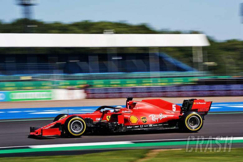 Sebastian Vettel out of F1 British GP first practice
