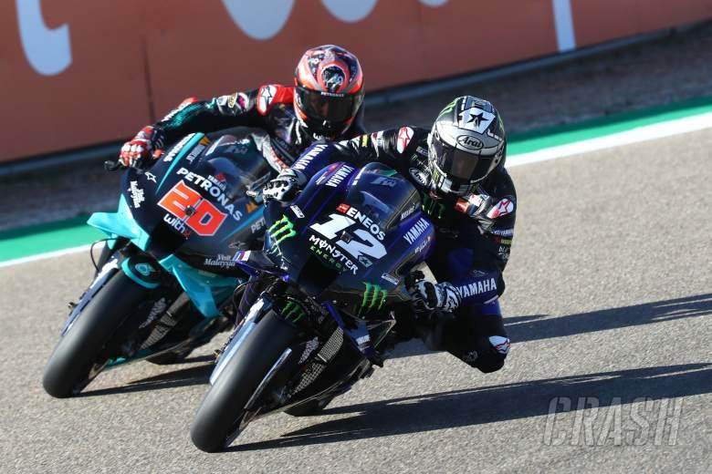 Maverick Vinales, Fabio Quartararo Aragon MotoGP. 16 October 2020