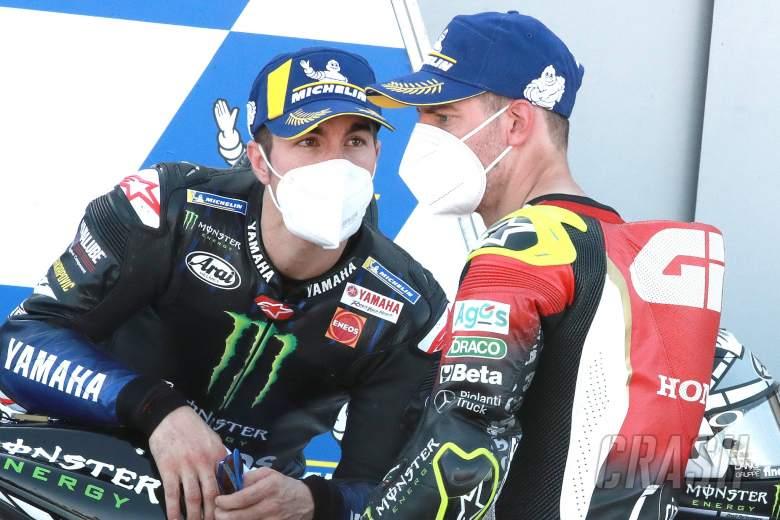 Maverick Vinales, Cal Crutchlow , Aragon MotoGP. 17 October 2020