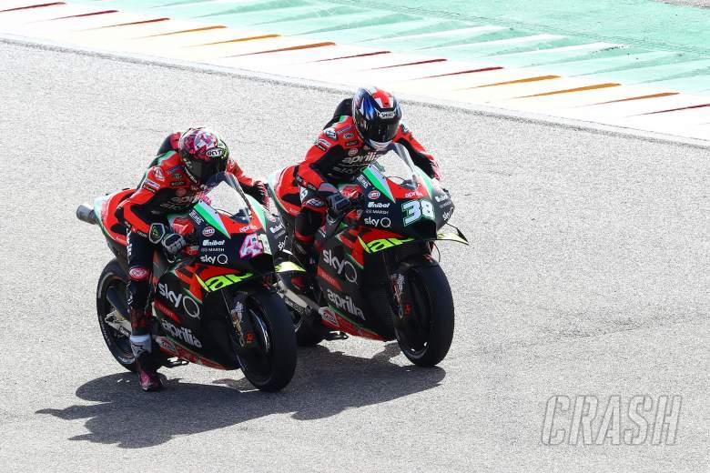 Aleix Espargaro Bradley Smith , Teruel MotoGP. 23 October 2020