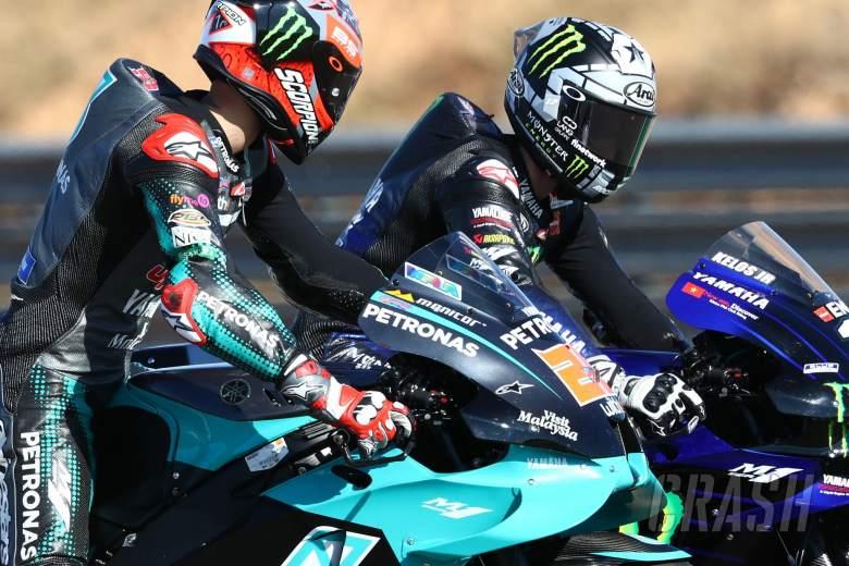 Fabio Quartararo Maverick Vinales , Teruel MotoGP. 24 October 2020