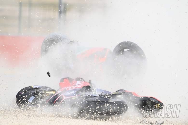 Jack Miller and Brad Binder crash, Teruel MotoGP race, 25 October 2020