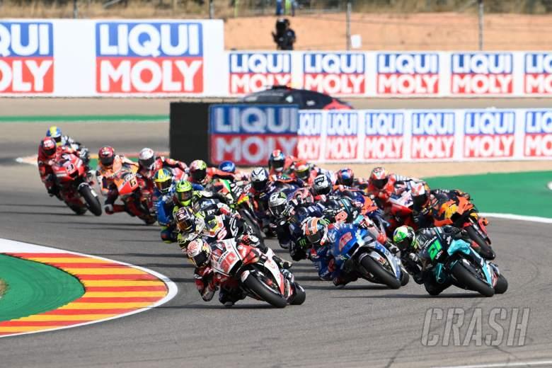 Takaaki Nakagami, race start, Teruel MotoGP race. 25 October 2020