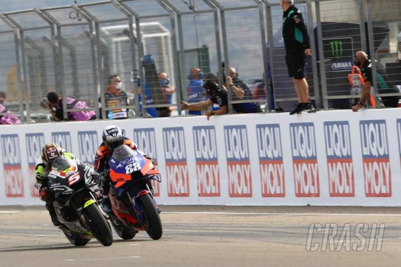 Johann Zarco Miguel Oliveira MotoGP race. Teruel MotoGP. 25 October 2020