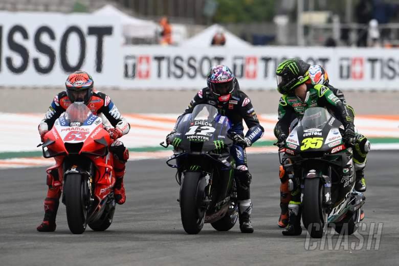 Cal Crutchlow, Maverick Vinales, practice start, Europa MotoGP, 06 November 2020