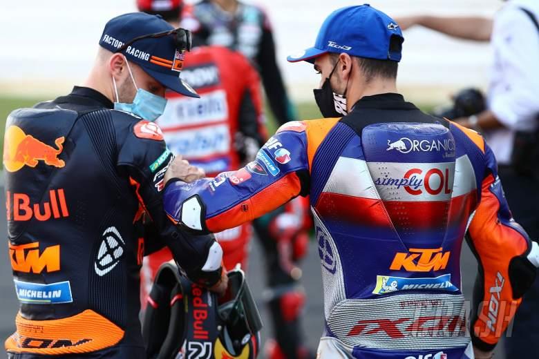 Brad Binder Miguel Oliveira , Portuguese MotoGP. 19 November 2020