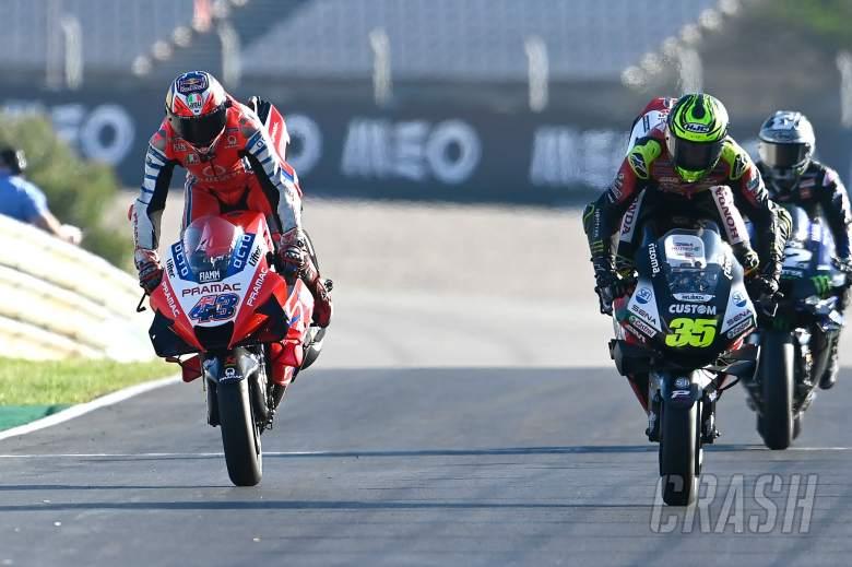 Jack Miller, Cal Crutchlow, stoppie, Portuguese MotoGP, 21st November 2020