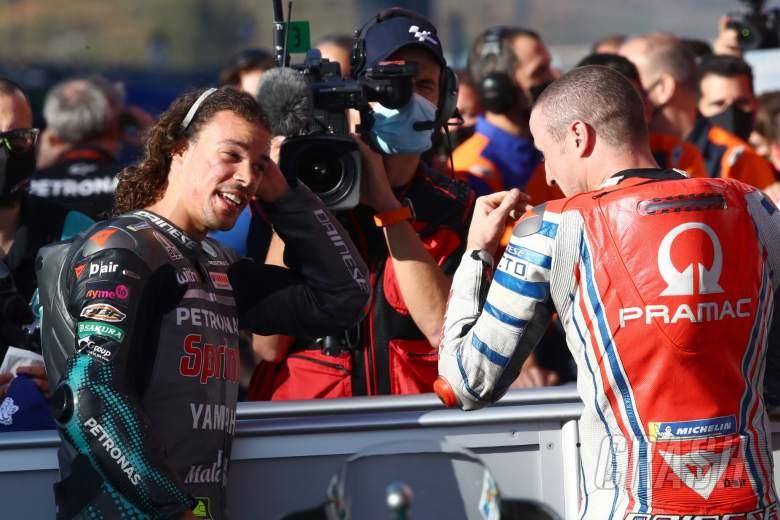 Franco Morbidelli Jack Miller MotoGP race, Portuguese MotoGP. 22 November 2020