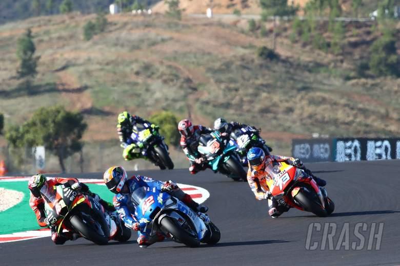 Aleix Espargaro Alex Rins MotoGP race, Portuguese MotoGP. 22 November 2020