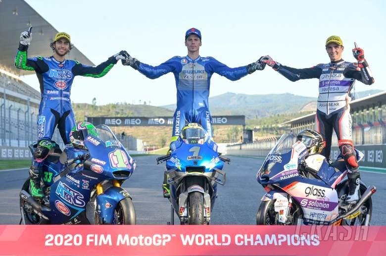Enea Bastianini, Joan Mir, Albert Arenas Portuguese MotoGP. 22 November 2020