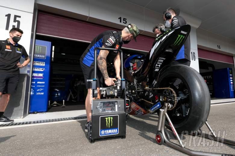 Fabio Quartararo, starting his bike, Qatar MotoGP test, 10 March 2021