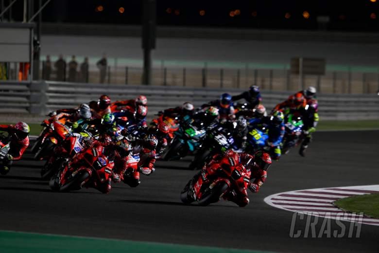Francesco Bagnaia first lap, MotoGP race, Qatar MotoGP, 28 March 2021