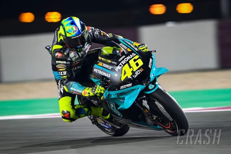 Valentino Rossi, glowing brake discs, MotoGP, Doha MotoGP 2 April 2021