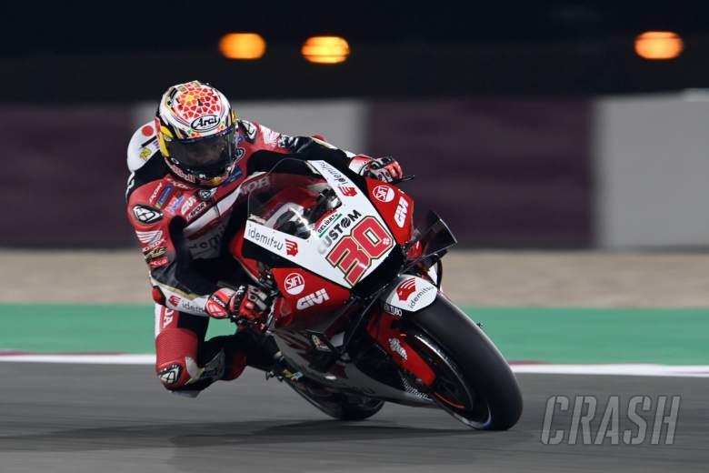 Takaaki Nakagami, glowing disks, MotoGP, Doha MotoGP 2 April 2021