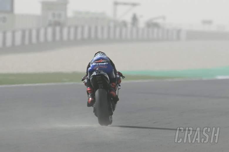 Fabio Quartararo dust on track, Doha MotoGP, 3 April 2021