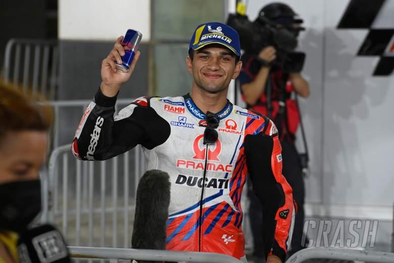 Jorge Martin parc ferme, Doha MotoGP, 3 April 2021
