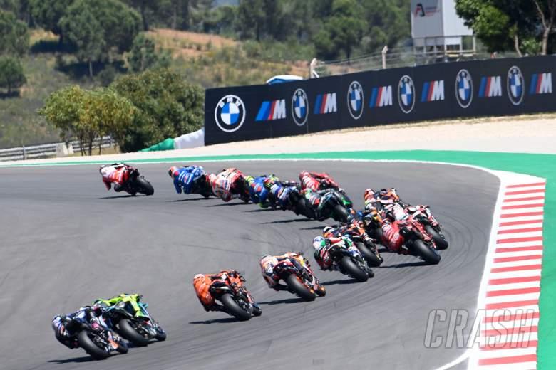 Johann Zarco first lap, Portuguese MotoGP race, 18 April 2021