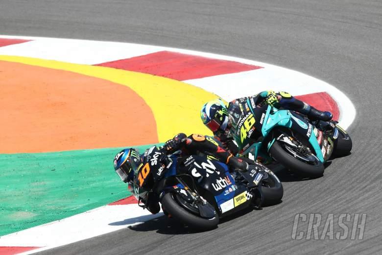 Luca Marini Valentino Rossi MotoGP race, Portuguese MotoGP. 18 April 2021