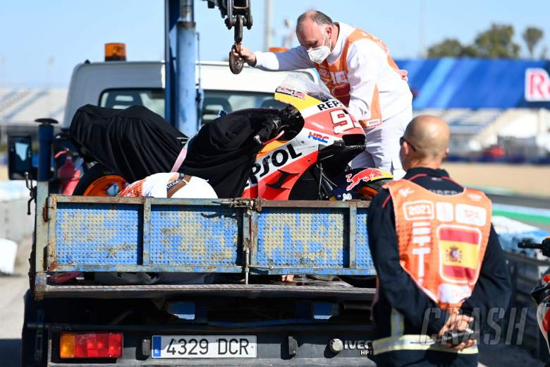 Marc Marquez, bike after crash,, MotoGP, Spanish MotoGP 1 May 2021