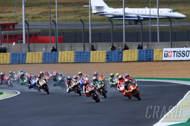 Andrea Migno race start, Moto3 race, French MotoGP, 16 May 2021