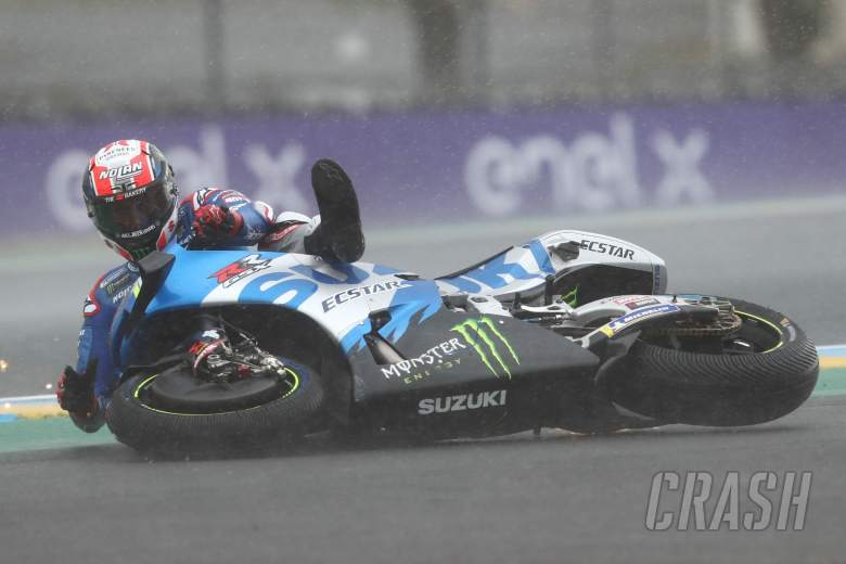 Alex Rins crash, French MotoGP race, 16 May 2021
