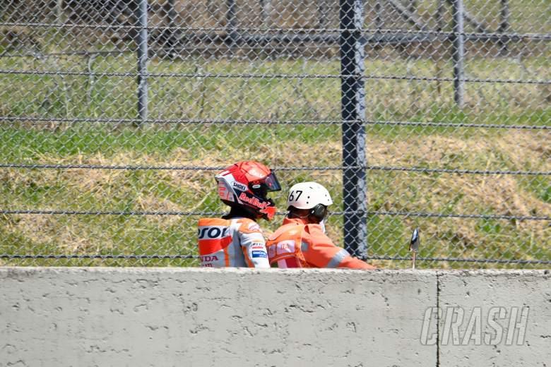 Marc Marquez crash, Italian MotoGP race, 30 May 2021