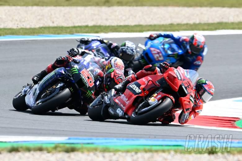 Francesco Bagnaia race start, Dutch MotoGP race, 27 June 2021