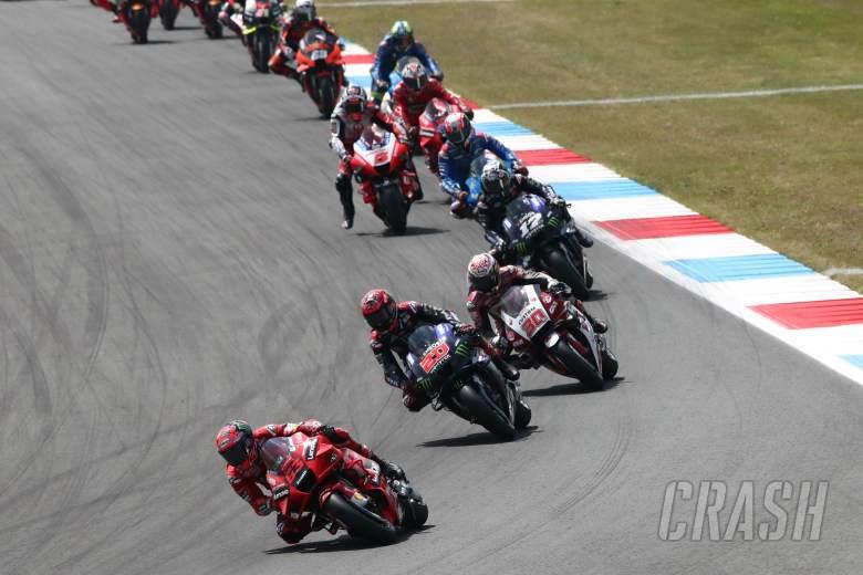 Francesco Bagnaia leads MotoGP race, Dutch MotoGP, 37 June 2021
