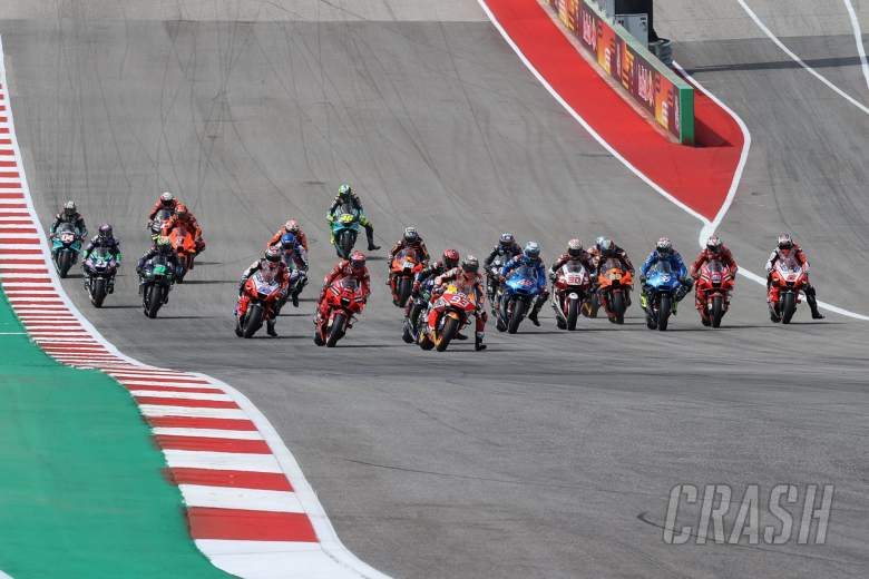 Start MotoGP race, Grand Prix Of The Americas, 3 October 2021