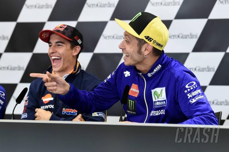 MotoGP: Rossi talks last corner overtakes - in front of Sete!