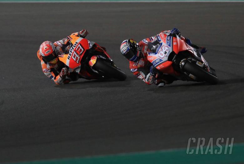 MotoGP: Dovizioso surprised by Marquez's last corner fight