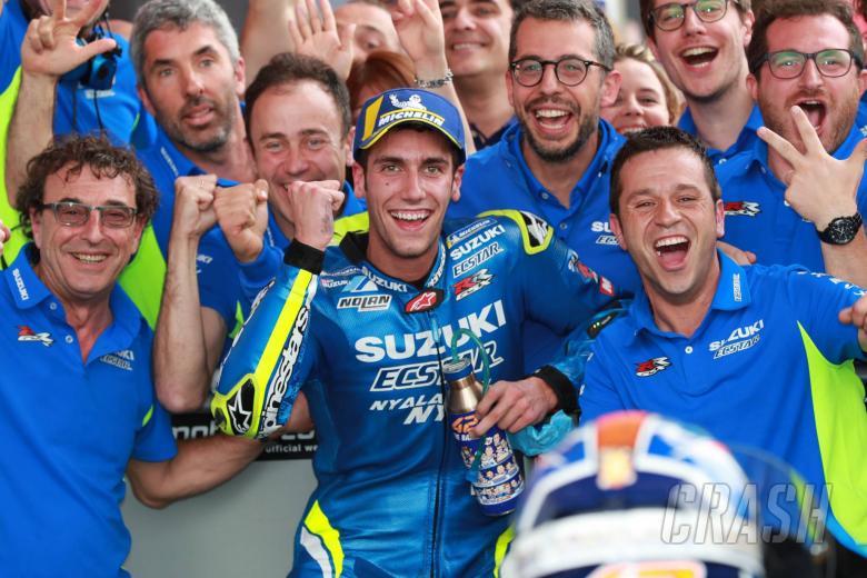 "MotoGP: Rins relishes maiden MotoGP podium, first win ""close"""