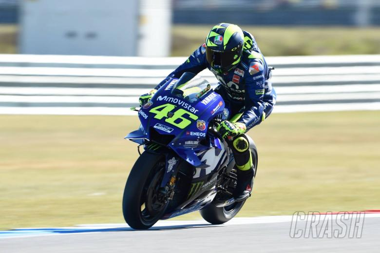 MotoGP: Rossi salvages front row after FP4 tumble