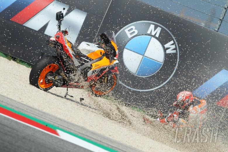 MotoGP: Marquez drama: Crash, Sprint, Scooter, Stone