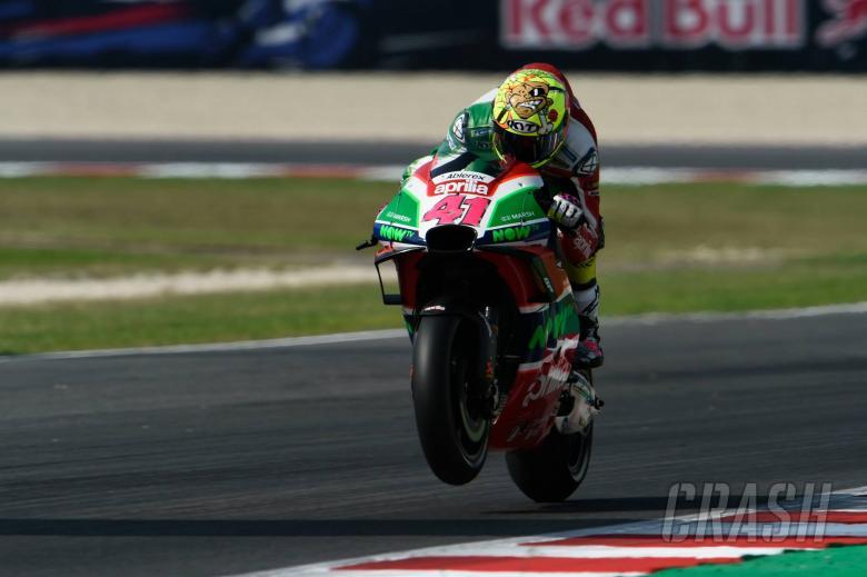 MotoGP: Espargaro 'disappointed' to be fast on 2017 Aprilia return