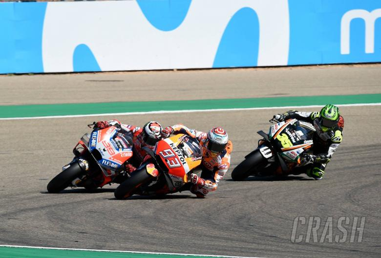 Marquez, Lorenzo, Crutchlow, Aragon MotoGP 2018