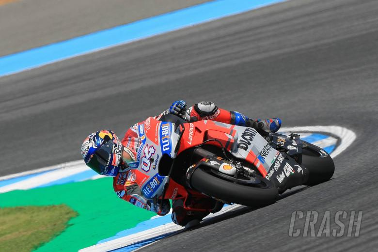 Dovizioso fastest, but 'fighting too much'
