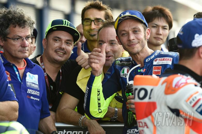 Front row a 'surprise' for Rossi, Yamaha