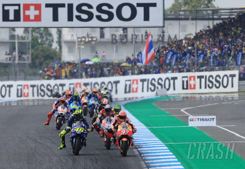 MotoGP: Rossi fights at the front in Thailand 'cycle race'