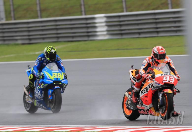 MotoGP: Marquez takes wet Sepang pole despite fall