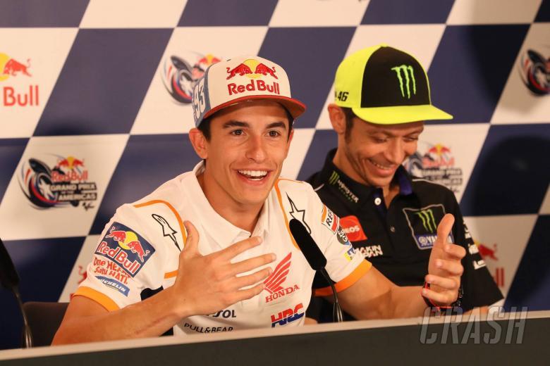 MotoGP: 'Right moment' for Rossi, Marquez handshake