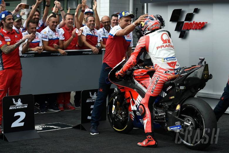 Miller: The front tyre light was on…