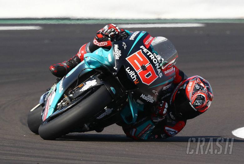 Quartararo edges Marquez in British MotoGP warm-up