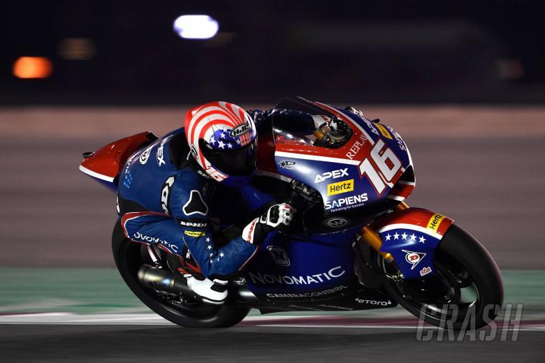 Roberts menempati pole position di Qatar Moto2 dengan waktu yang sama dengan Marini