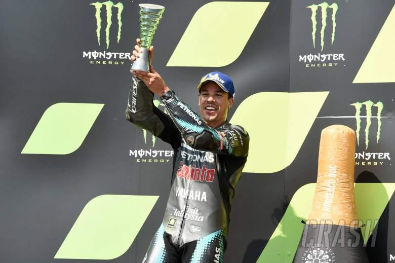 Morbidelli breaks MotoGP podium duck, thanks 'big uncle' Rossi