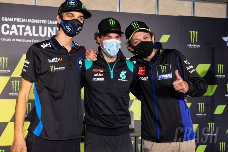 Valentino Rossi,Franco Morbidelli, Luca Marini, Catalunya MotoGP. 26 September 2020