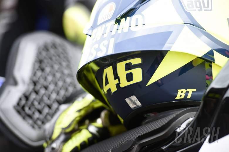 Valentino Rossi, helmet, Catalunya MotoGP race. 27 September 2020